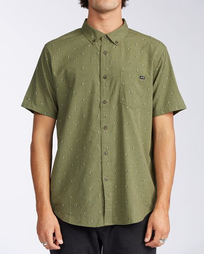 0 All Day Jacquard Short Sleeve Shirt Green M5073BSJ Billabong