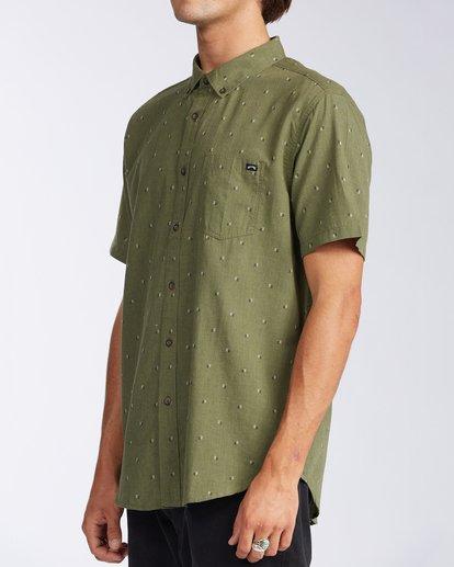 1 All Day Jacquard Short Sleeve Shirt Green M5073BSJ Billabong