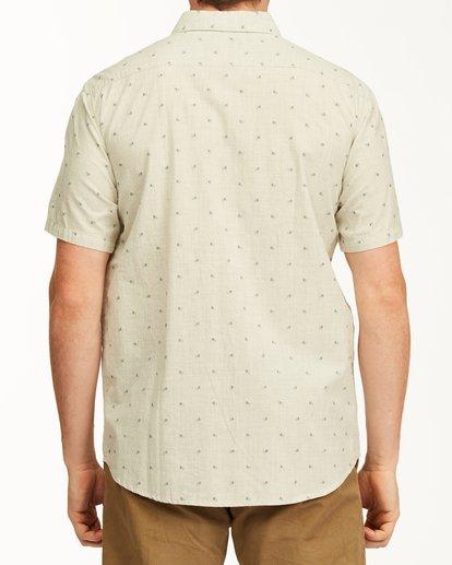 2 All Day Jacquard Short Sleeve Shirt Red M5073BSJ Billabong