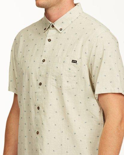 3 All Day Jacquard Short Sleeve Shirt Red M5073BSJ Billabong