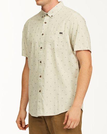 1 All Day Jacquard Short Sleeve Shirt Red M5073BSJ Billabong