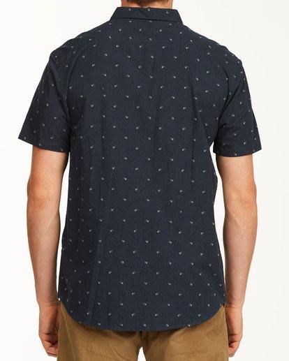 2 All Day Jacquard Short Sleeve Shirt Blue M5073BSJ Billabong