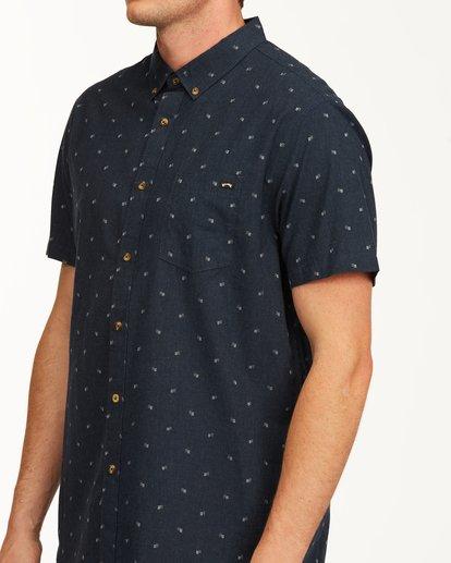 3 All Day Jacquard Short Sleeve Shirt Blue M5073BSJ Billabong
