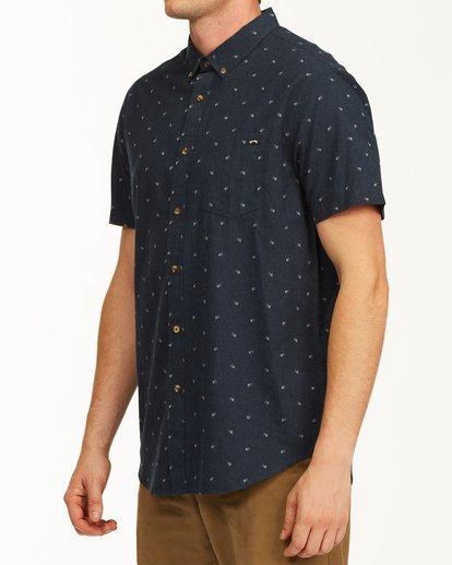 1 All Day Jacquard Short Sleeve Shirt Blue M5073BSJ Billabong