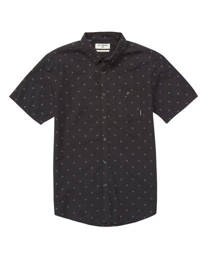 3 All Day Jacquard Short Sleeve Shirt  M507VBSJ Billabong