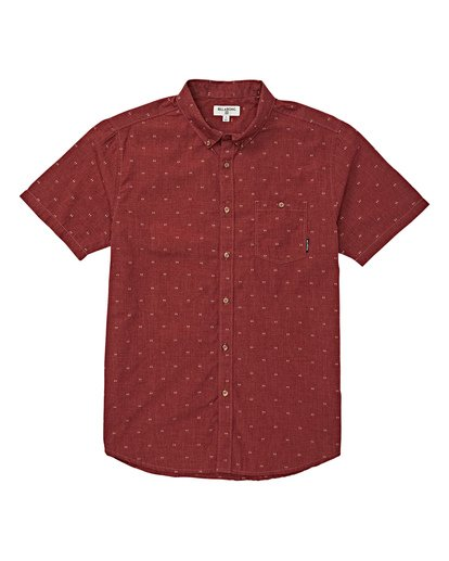 3 All Day Jacquard Short Sleeve Shirt Red M507VBSJ Billabong