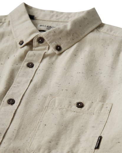 5 All Day Jacquard Short Sleeve Shirt Grey M507VBSJ Billabong