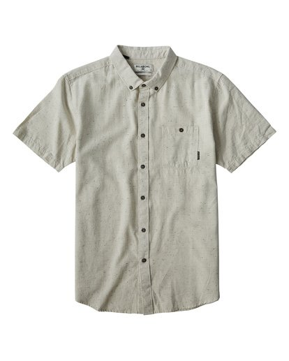 4 All Day Jacquard Short Sleeve Shirt Grey M507VBSJ Billabong