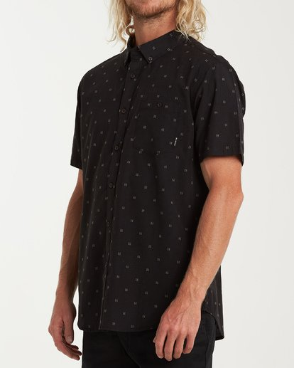 1 All Day Jacquard Short Sleeve Shirt Black M507VBSJ Billabong
