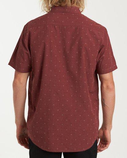 2 All Day Jacquard Short Sleeve Shirt Red M507VBSJ Billabong