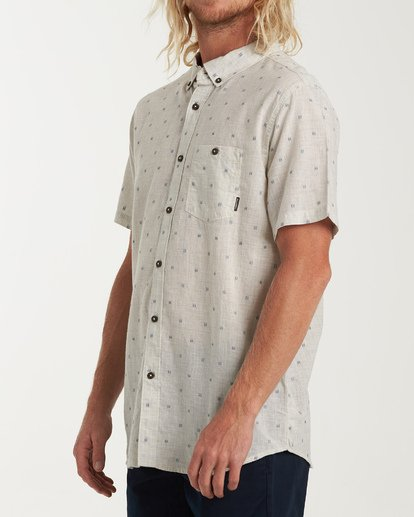 1 All Day Jacquard Short Sleeve Shirt Grey M507VBSJ Billabong