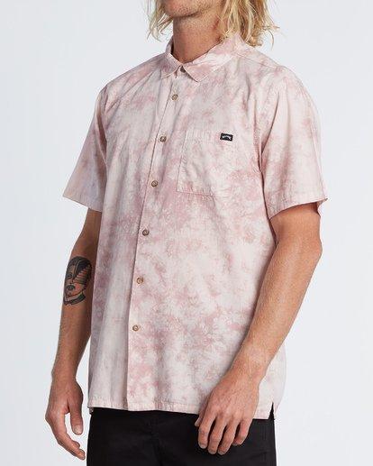 1 Sundays Tie Dye Short Sleeve Shirt Pink M5081BTD Billabong
