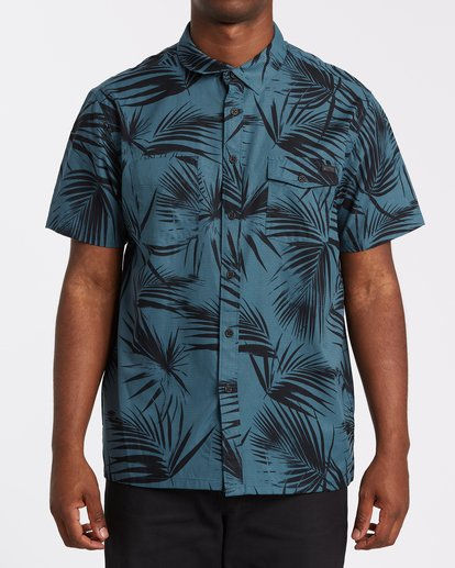 0 A/Div Surftrek Short Sleeve Shirt Blue M5131BSU Billabong