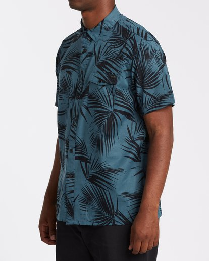 1 A/Div Surftrek Short Sleeve Shirt Blue M5131BSU Billabong