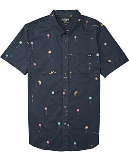3 Truffula Short Sleeve Shirt Black M5162BLO Billabong