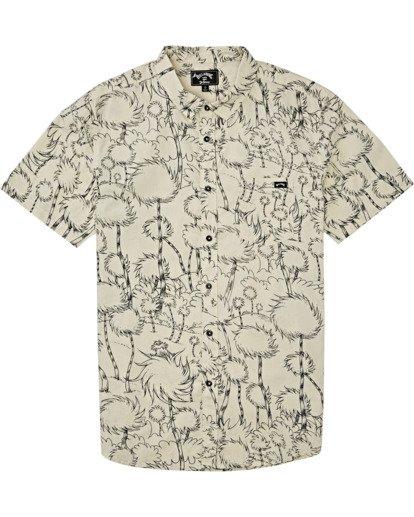 3 Truffula Short Sleeve Shirt Beige M5162BLO Billabong