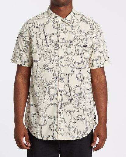 0 Truffula Short Sleeve Shirt Beige M5162BLO Billabong