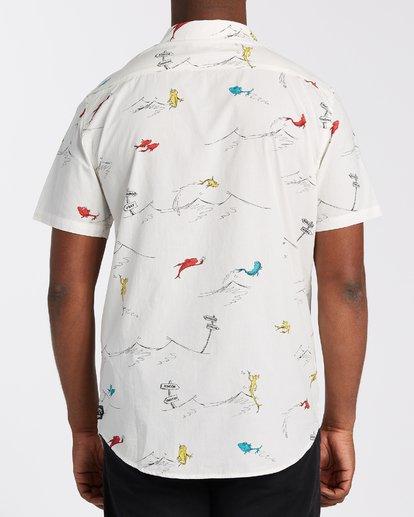 2 One Fish Two Fish Short Sleeve Shirt White M5173BOF Billabong