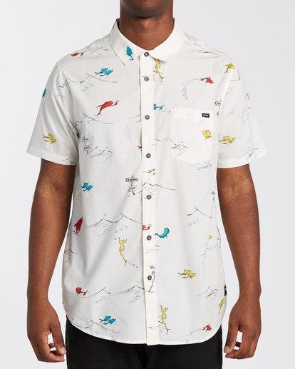 0 One Fish Two Fish Short Sleeve Shirt White M5173BOF Billabong