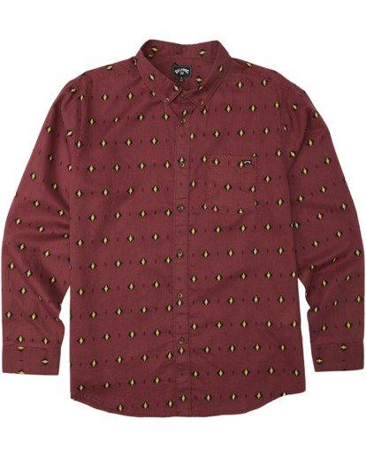 8 Sundays Mini Long Sleeve Shirt Red M5183BSM Billabong
