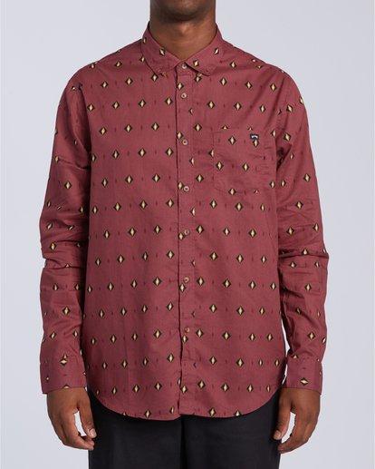 0 Sundays Mini Long Sleeve Shirt Red M5183BSM Billabong