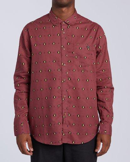 3 Sundays Mini Long Sleeve Shirt Red M5183BSM Billabong