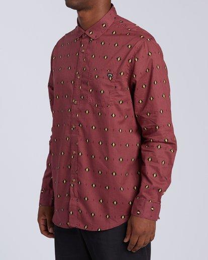 4 Sundays Mini Long Sleeve Shirt Red M5183BSM Billabong