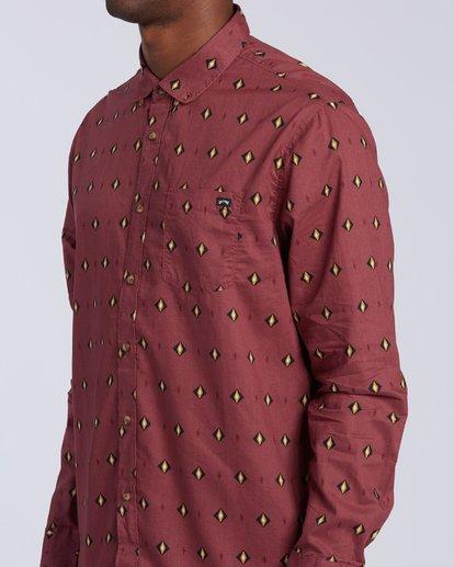 5 Sundays Mini Long Sleeve Shirt Red M5183BSM Billabong