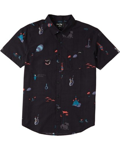 3 Oh The Places Short Sleeve Shirt Black M5183BTP Billabong