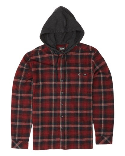 3 Baja Flannel Shirt Red M5211BBF Billabong