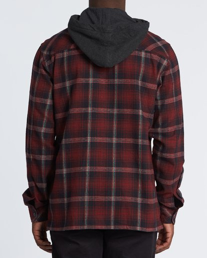 2 Baja Flannel Shirt Red M5211BBF Billabong