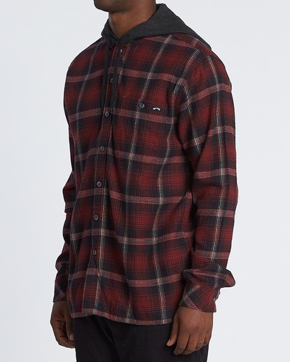 1 Baja Flannel Shirt Red M5211BBF Billabong