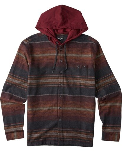 6 Baja Flannel Shirt Black M5213BBF Billabong