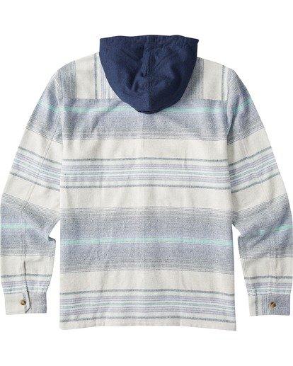 6 Baja Flannel Shirt Blue M5213BBF Billabong