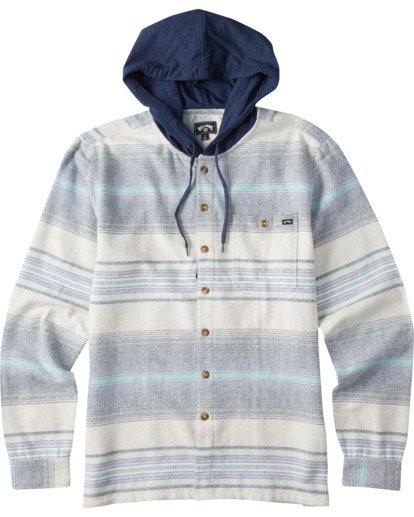 5 Baja Flannel Shirt Blue M5213BBF Billabong