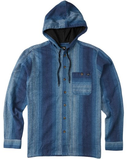 4 Baja Flannel Shirt Blue M5213BBF Billabong