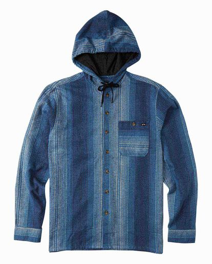 5 Baja Flannel Shirt Blue M5213BBF Billabong