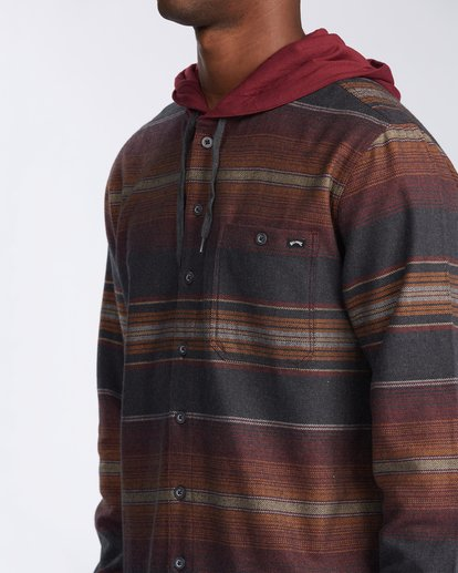 4 Baja Flannel Shirt Black M5213BBF Billabong