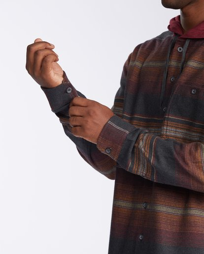 5 Baja Flannel Shirt Black M5213BBF Billabong