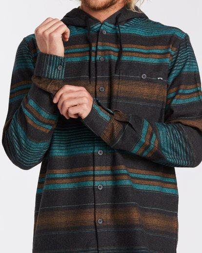3 Baja Flannel Shirt Black M5213BBF Billabong