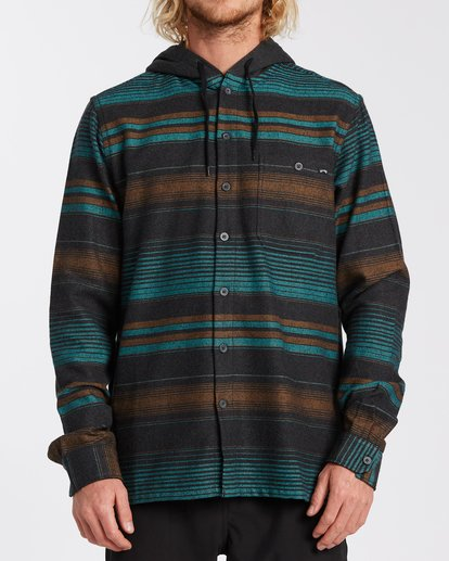 0 Baja Flannel Shirt Black M5213BBF Billabong