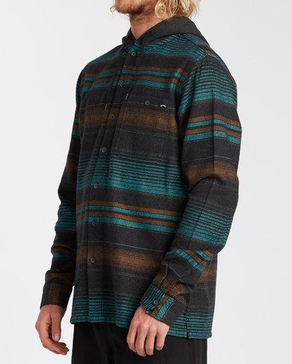 1 Baja Flannel Shirt Black M5213BBF Billabong