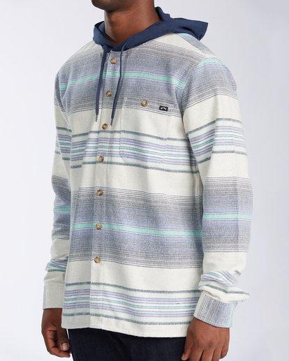 3 Baja Flannel Shirt Blue M5213BBF Billabong