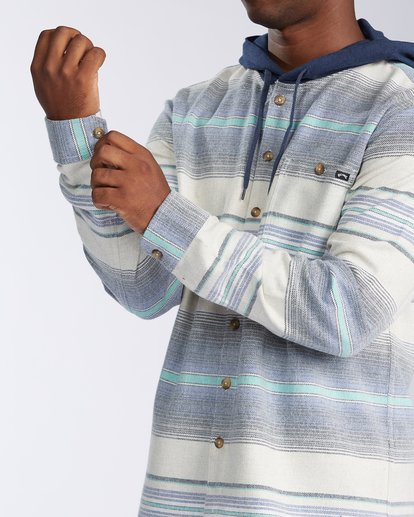 4 Baja Flannel Shirt Blue M5213BBF Billabong