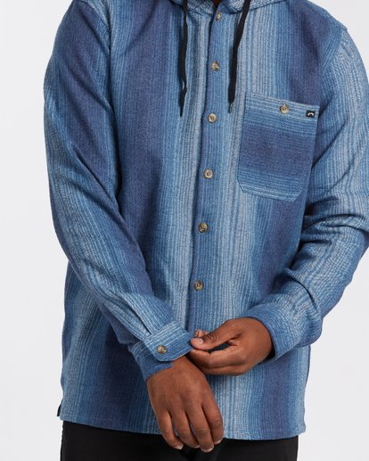 3 Baja Flannel Shirt Blue M5213BBF Billabong
