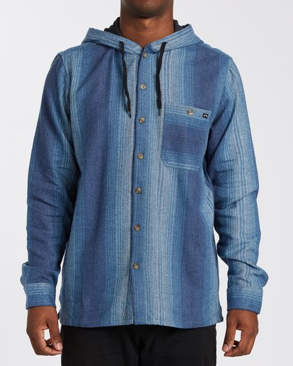 0 Baja Flannel Shirt Blue M5213BBF Billabong