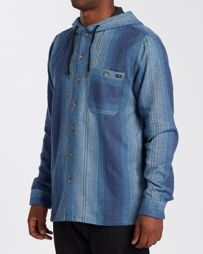 1 Baja Flannel Shirt Blue M5213BBF Billabong
