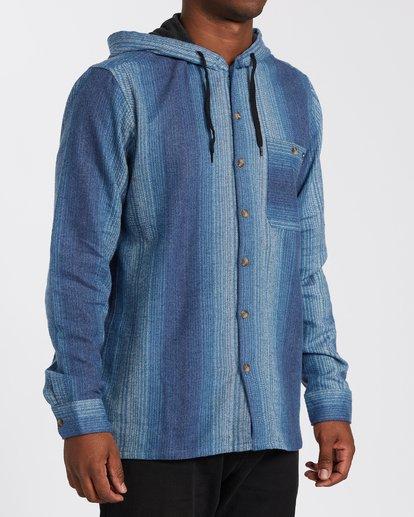 2 Baja Flannel Shirt Blue M5213BBF Billabong