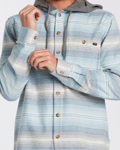 3 Baja Flannel Shirt Beige M5213BBF Billabong