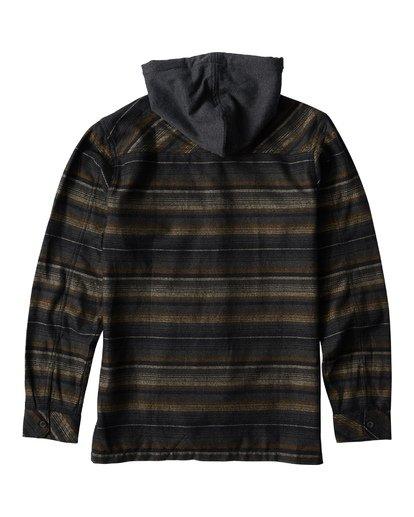 1 Baja Flannel Shirt Black M521VBBF Billabong